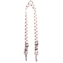 Pink and Brown Argyle Coupler Dog Leash