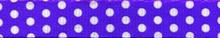 New Purple Polka Dot Coupler Dog Leash