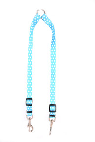 New Blue Polka Dot Coupler Dog Leash