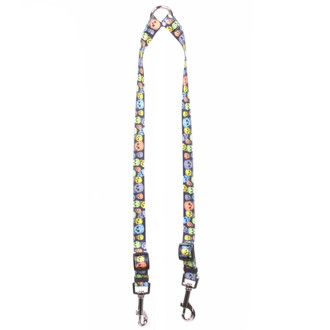 Neon Skulls Coupler Dog Leash