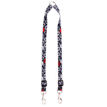 Kisses Black Coupler Dog Leash