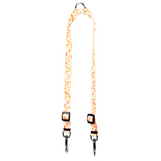 Island Floral Orange Coupler Dog Leash