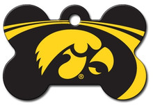 Iowa Hawkeyes Engraved Pet ID Tag