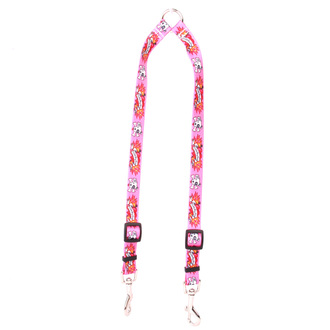 I Luv My Dog Pink Coupler Dog Leash