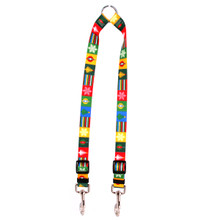 Holiday Blocks Coupler Dog Leash