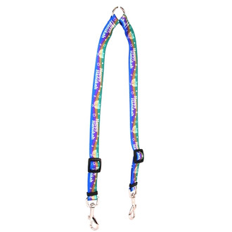 Happy Hanukah Coupler Dog Leash