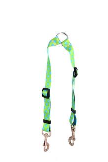 Green and Brown Polka Dot Coupler Dog Leash