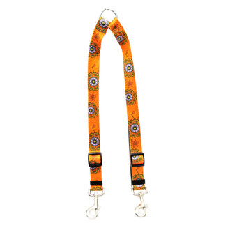 Folk Flowers Coupler Dog Leash