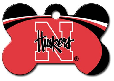 Nebraska CornHuskers Engraved Pet ID Tag