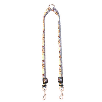 Deer Print Coupler Dog Leash