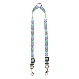 Chevy Stripe Blue Coupler Dog Leash