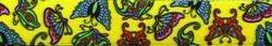 Butterflies on Yellow Coupler Dog Leash