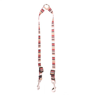 Burgundy Stripes Coupler Dog Leash