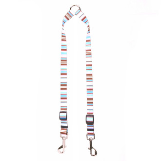 Brown Stripes Coupler Dog Leash