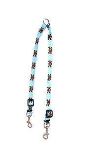 Blue and Brown Skulls Coupler Dog Leash