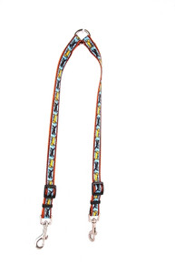 Black and Yellow Dog Coupler Dog Leash