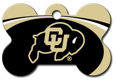 U of Colorado Buffalos Engraved Pet ID Tag