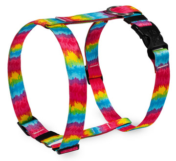 "Tie-Dye Roman Style ""H"" Dog Harness"