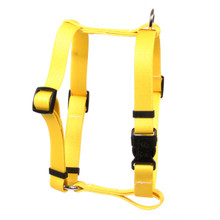 "Solid Yellow Roman Style ""H"" Dog Harness"