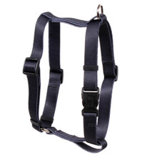 "Solid Black Roman Style ""H"" Dog Harness"