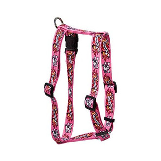 "I Luv My Dog Pink Roman Style ""H"" Dog Harness"