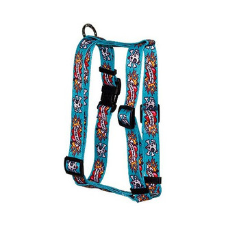 "I Luv My Dog Blue Roman Style ""H"" Dog Harness"