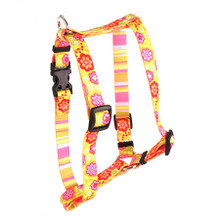 """Green Bouquet Roman Style """"H"""" Dog Harness"""