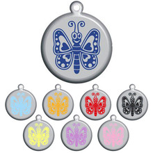 Butterfly Pet ID Tag - With Engraving