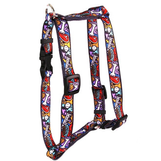 "Doggie Delights Roman Style ""H"" Dog Harness"