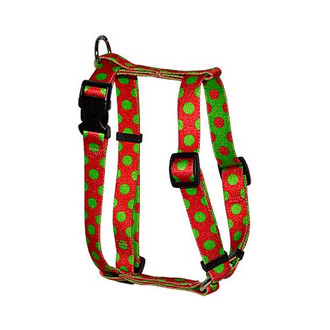 "Christmas Polka Dot Roman Style ""H"" Dog Harness"