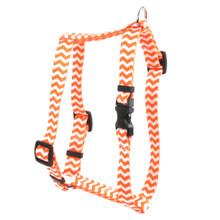 "Chevron - Tangerine Roman Style ""H"" Dog Harness"