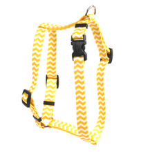 "Chevron - Lemon Roman Style ""H"" Dog Harness"