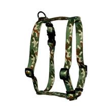 "Camo Roman Style ""H"" Dog Harness"