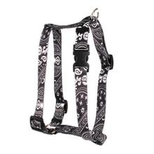 "Black Bandana Roman Style ""H"" Dog Harness"