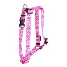 """Bandana Pink Roman Style """"H"""" Dog Harness"""