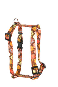 "Autumn Flowers Roman Style ""H"" Dog Harness"