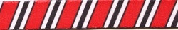 Team Spirit Red, Black and White EZ-Grip Dog Leash