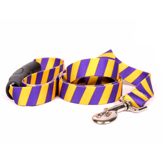 Team Spirit Gold and Purple EZ-Grip Dog Leash