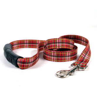 Tartan Red EZ-Grip Dog Leash