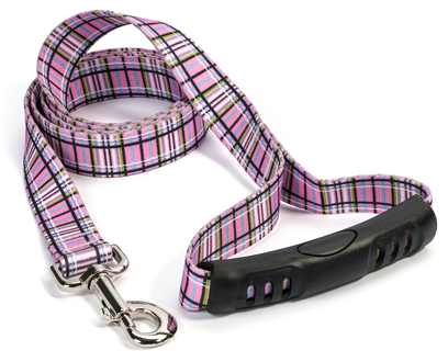 Tartan Pink EZ-Grip Dog Leash