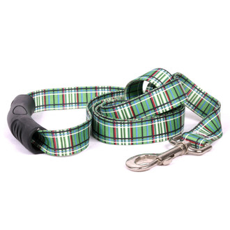 Tartan Green EZ-Grip Dog Leash