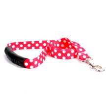 Strawberry Polka Dot EZ-Grip Dog Leash