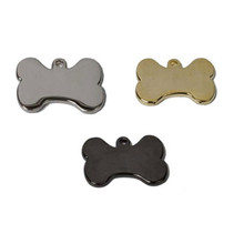 Bone Shape Engraved Pet ID Tag