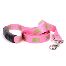 Pink and Green Skulls EZ-Grip Dog Leash