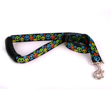Neon Peace Signs EZ-Grip Dog Leash