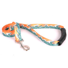 Mystic Waves Orange EZ-Grip Dog Leash