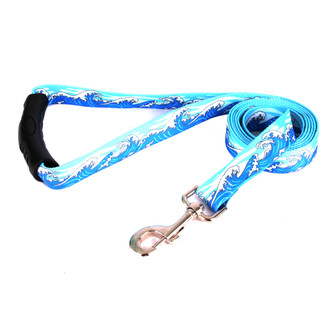 Mystic Waves Blue EZ-Grip Dog Leash