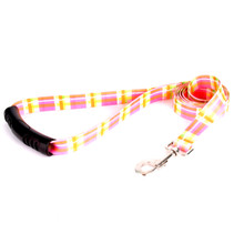 Madras Pink EZ-Grip Dog Leash