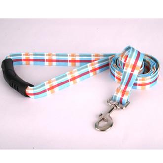 Madras Blue EZ-Grip Dog Leash