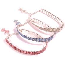 Crystal Dog Necklace With Bone Pendant